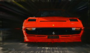 Ferrari 208 turbo. Pininfarina. Oil on canvas 100x65 cm