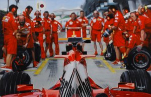 Scuderia Ferrari Marlboro F1 Team, oil on canvas 45x70