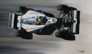 Ayrton Senna San-Marino 1994, Williams FW16, oil on canvas 35x50 cm
