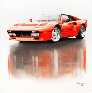 Ferrari 288 GTO 1984, oil on canvas 60x60 cm