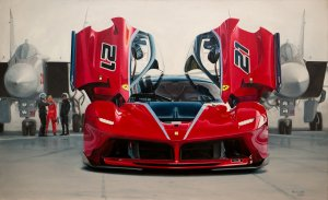 La Ferrari FXX-K #21, oil on canvas 130x85 cm
